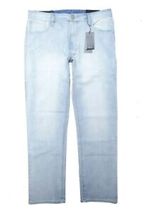 A X Armani Exchange Men's Relaxed Straight Light Blue Stretch Cotton Jeans 36S/C
