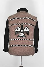 Men's Small Woman's Large Cowichan Sweater  Eagle Sweater Vest Hand Knit Wool