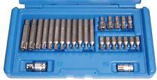 BGS Werkzeug PRO+ T-Profil Bitsatz mit Bohrung, 26-tlg.mit Stirnlochbohrung