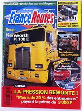 France Routes de 04/1997; Essai Kenworth K 100 E/ Aventure en Birmanie/ Barrages