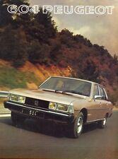 Peugeot 604 Sl V6 1977 mercado alemán de color folleto de ventas