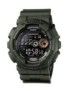 New Casio G-Shock Men's digital Watch with alarm military look army green resin