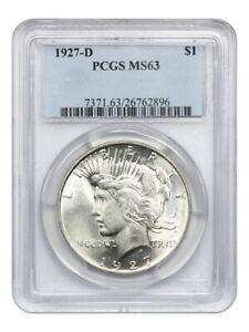 1927-D $1 PCGS MS63 - Peace Silver Dollar