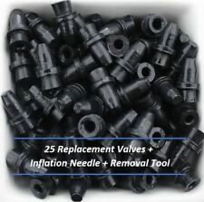 25 Replacement Valves for Basketball, Soccer Ball, Football + Valve Removal Tool