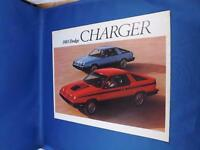 1983 DODGE CHARGER CAR SALES DEALER BROCHURE STANDARD OPTIONAL FEATURES