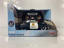"""Disney Parks Cars Sheriff 6"""" RC Car 2.4ghz"""