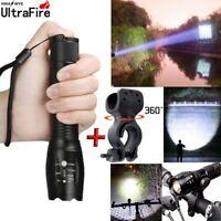 Ultrafire Flashlight 60000LM T6 LED Light Tactical 18650&Torch Holder Bicycle ,
