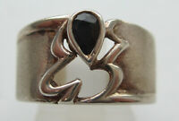 Vintage Sterling Silver & Sapphire Ring