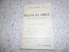 1915.Pages d'Histoire 10.Bulletin des armées.guerre 14-18..