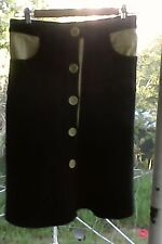 Lover The Label Susien Chong Black Rose Army vintage skirt RARE
