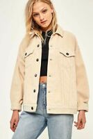 URBAN OUTFITTERS CREAM JUMBO CORDUROY OVERSIZE CASUAL JACKET SIZE S RRP £66