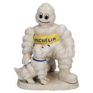 Michelin Man with Dog Statue Figurine Bibendum Tyres Cast Iron Figure Garden