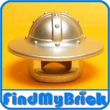 G076A Lego Castle Helmet Broad Brim - Metallic Silver