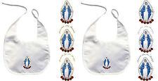 Baby Infant Christening Baptism White Bib Gold Silver Holy Virgin Mary Maria