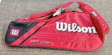 Wilson Tour Triple Thermo Red Tennis Racket Bag 2 Large Compartments New w/ Tags