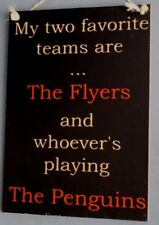 The Philadelphia Flyers Versus The Penguins Hockey Sign - Bar Sports Signs