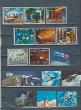 Bhutan selection of mint metal foil and 3D stamps - SPACE