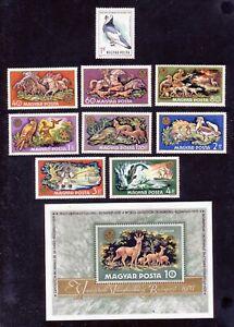 HONGRIE - FAUNE Oiseau Pigeon + Animaux de chasse et pêche - 1969 et 1971