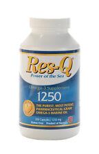 Res-Q 1250 EPA & DHA Omega-3 Fish Oil 200 Capsules