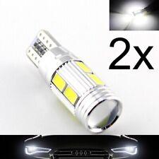 2 Lampade xenon LED T10 HID 6 SMD 5630 Canbus NO ERRORE BIANCO Posizione W5W