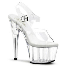 Pleaser Adore-708 Clear Platform Pole Dancing Shoes UK 6 /eu 39 in Stock