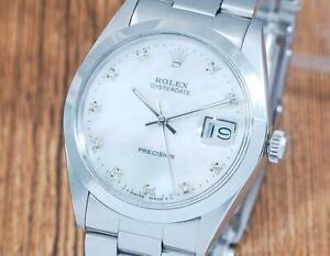 Rolex Oysterdate Precision 6694 Diamond Men's Watch!