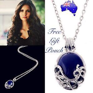 Katherine Pierce Vampire Diaries Lapis Lazuli Daylight Sterling Silver Necklace