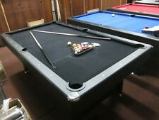 7 FT BLACK FELT POOL TABLE WITH ACCESSORIES