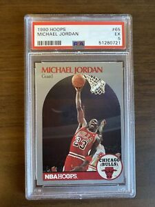 1990 Hoops Michael Jordan #65 PSA 5 EX