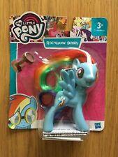 My Little Pony G4 Rainbow Dash Hasbro Brushable Doll Toy Blue Pegasus