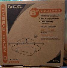 "Lithonia Lighting 6"" Brushed Nickel Eyeball Trim Downlight 7E1BN - Lot of 2"