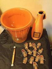 VEUVE CLICQUOT lot WINE BUCKET PEN CORKS Bottle CARRIER HOLDER COOLER