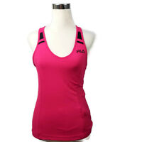 Fila Pink Racerback Womens Size XS Athletic Workout Yoga Shirt Built in Bra