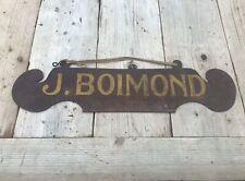 Antique Metal Shop Sign