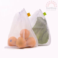 100% Genuine! D.LINE Eco Mesh Reusable Produce Bags Pack of 5!