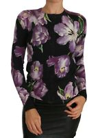 DOLCE & GABBANA Sweater Cardigan Black Cashmere Tulip IT36 / US2 / XS RRP $1400