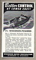 1950 Print Ad Wisconsin Air-Cooled Inboard Marine Boat Engines Milwaukee,WI