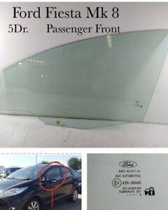 FORD Fiesta Mk7.5  Window  Glass. NS Front Left Passenger 5Dr Model. 2008 - 2013