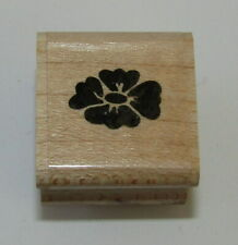 "Flower Top Rubber Stamp Embossing Arts Mini Wood Mounted 1 1/8"" High"
