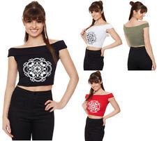 Viscose Off-Shoulder Sleeve Casual Regular Tops & Blouses for Women