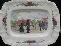 """Vintage Obernai Sarreguemines 13"""" Serving Platter France French Floral Cottage"""