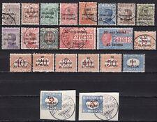 #2065 - Regno, terre redente - Lotto di 22 francobolli, 1919 - Usati