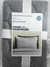 Room Essentials Gray Jersey Sham 20x26 in Standard Size T-Shirt Soft New