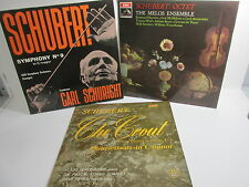 Schubert Classical Album collection x 3 LP set records job lot retro