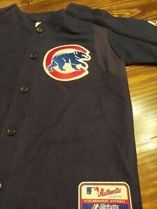 Chicago Cubs Authentic Majestic Alternate Jersey Small Vintage RN53157