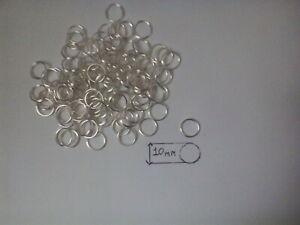 Silver Split Rings 10 mm Key Chain Links Double Loop Blanks Fishing Craft Work