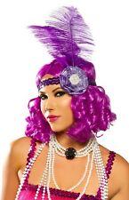 Purple Curly Flapper Costume Wig Roaring 20s Carnival Festival Mardi Gras