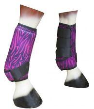 Showman PINK ZEBRA Perforated Neoprene Sport Boots Shock Absorbent Foam MED