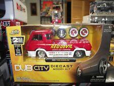 Jada 1/24 Dub city 1965 ford econoline red devil  Kit NIB
