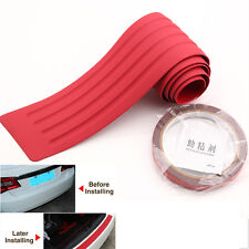 90x8cm Rubber Red Rear Rubber Bumper Protector Trim Cover for Acura Ford Kia